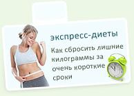 Экспресс-диеты для быстрого похудения